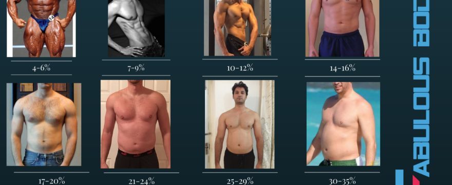 body fat percentage chart men